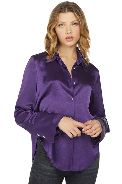 Nanushka Retro satin shirt Purple