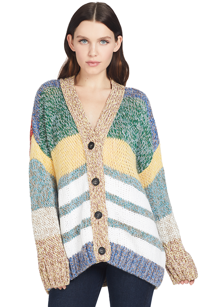 Numero Ventuno Striped Cardigan Multi