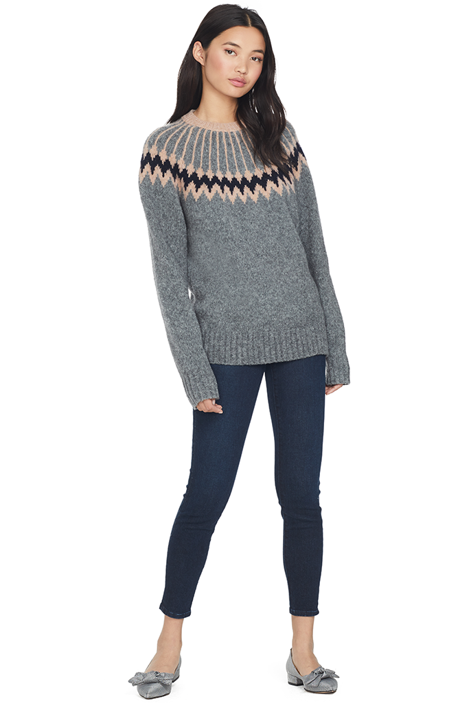 Olympia Knit Sweater (Gravel)