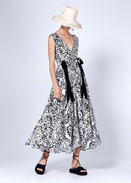 Patricia Dress - Black and White
