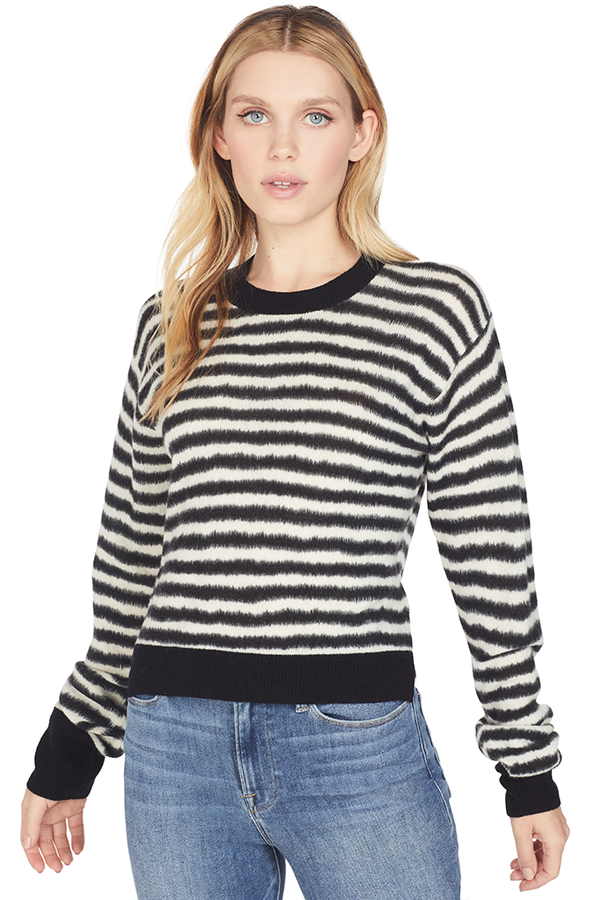 August Printed Cropped Sweater (Horizontal Knit)