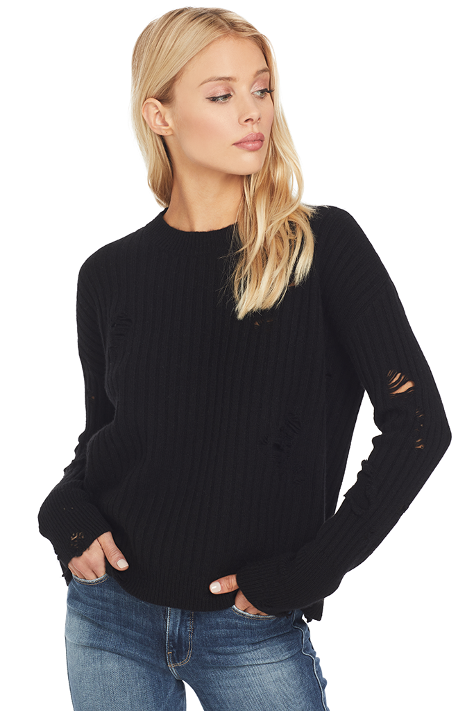 RtA Gilda Crewneck Sweater (Cachet Black)