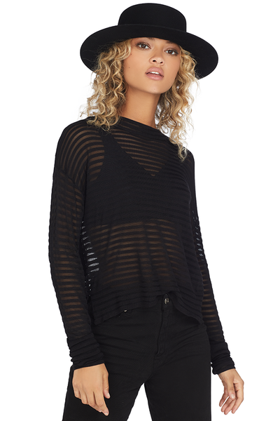 RtA Gilda Striped Sweater (Jet Black)
