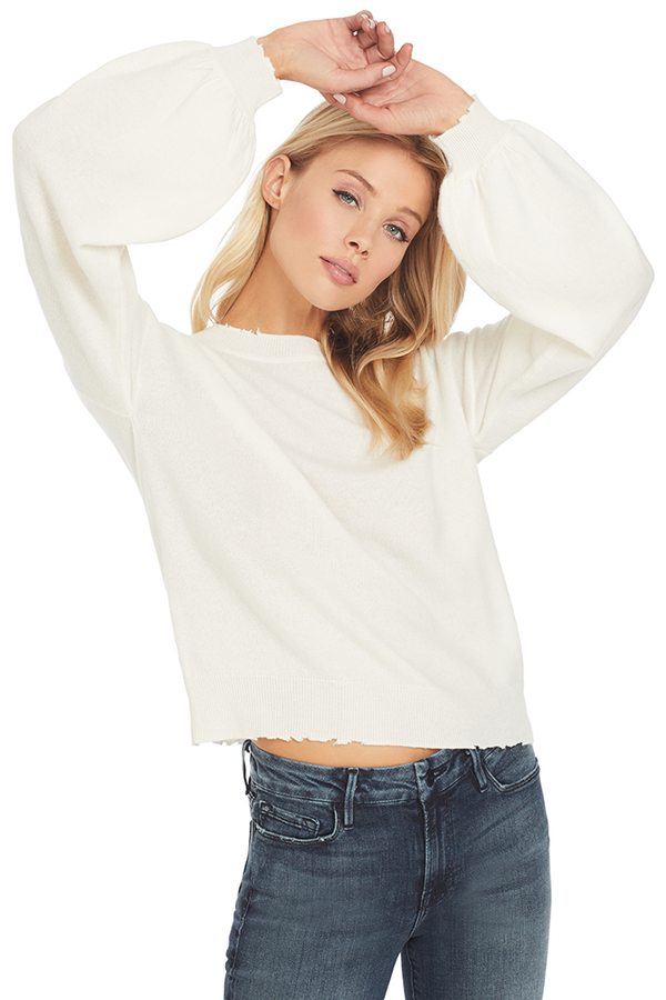 RtA Magnus Bell Sleeve Sweater (Cachet White)