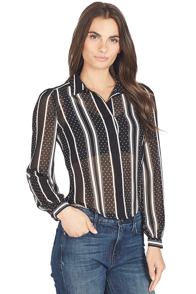 Sinead Tailored Blouse (Black Multi)