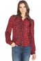 RtA Sinead Tailored Blouse (Red Leopard)