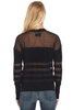 RtA Tandy Gauzy Sweater (Jet Black)