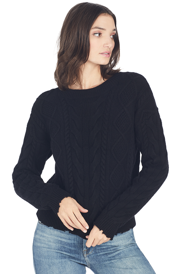 RtA Zane Reverse V-Neck Sweater