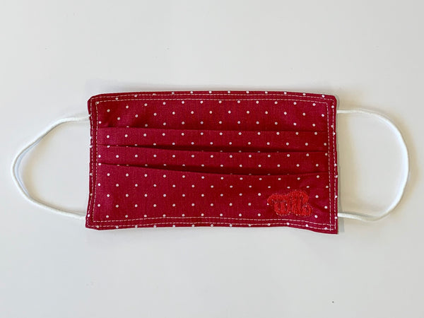 Red Polka Dot Mask - One Size