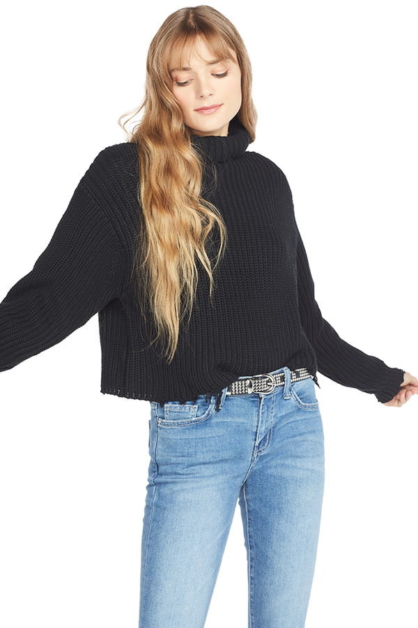 RtA Beau Turtleneck Sweater (Black)