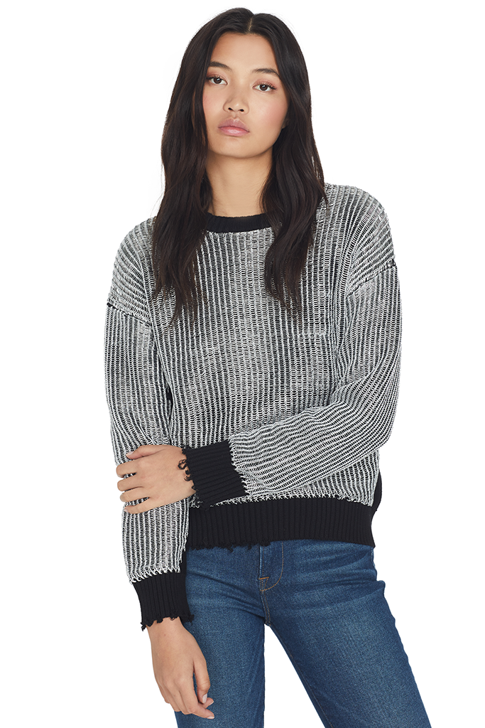 Emmet Boxy Sweater w/Rings (Silver)