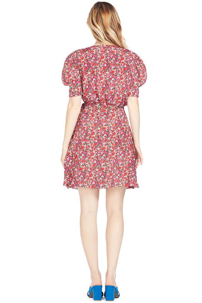 Saloni Lea Mini Wrap Dress