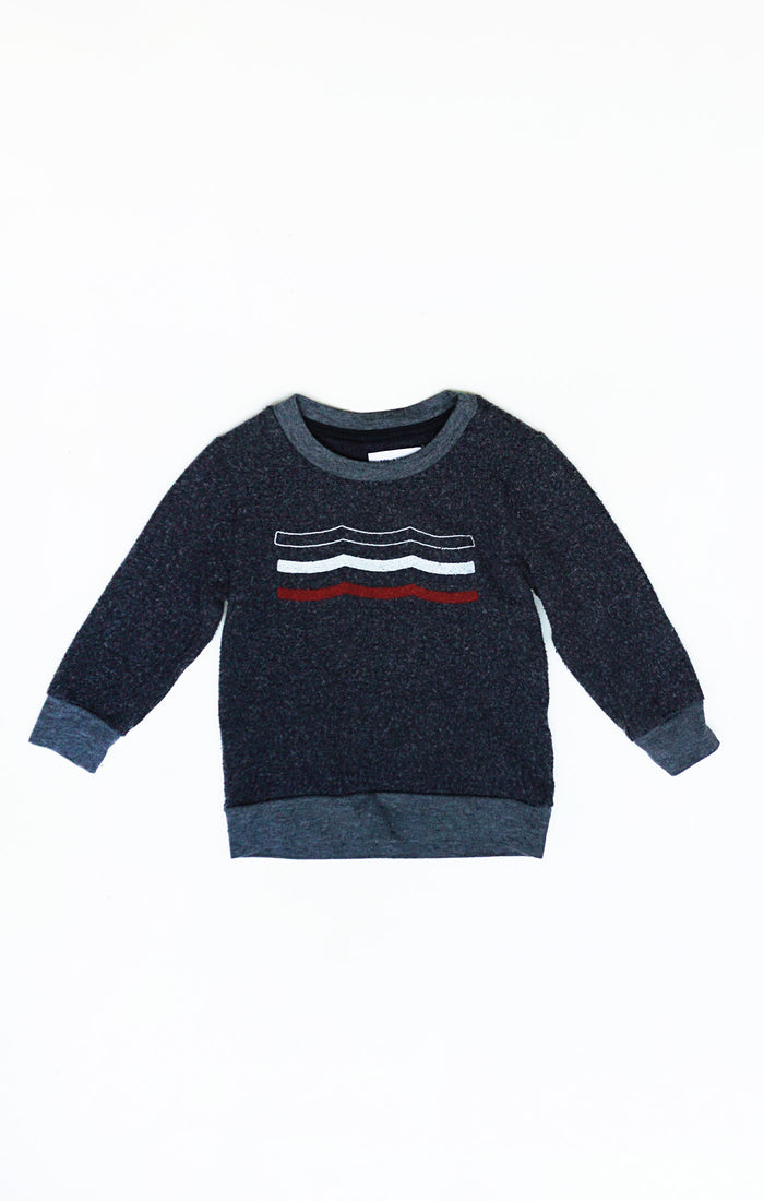 Baby Americana Waves Pullover