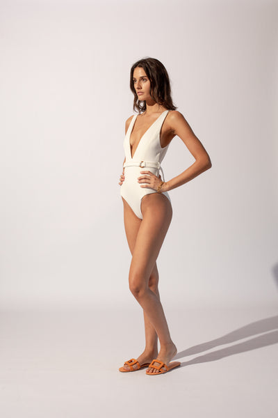 Kaia Deep V One Piece - Ivory