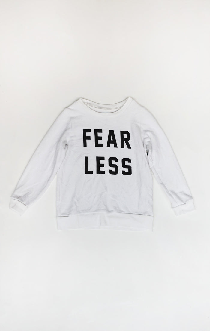 Fear Less Pullover (White)