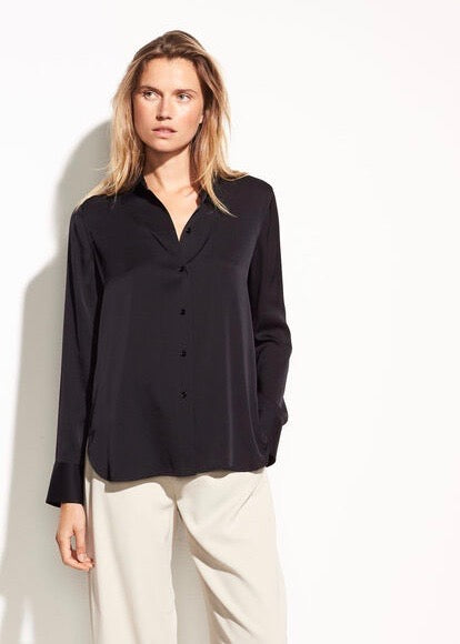 Slim Fitted Blouse - Black