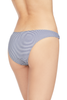 Suboo Shoreline Ring Side High Cut Bottoms (Navy/White Stripe)