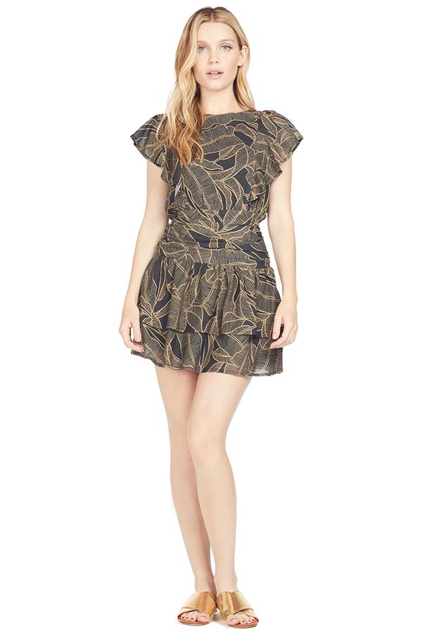 Suboo Zephora Ruffled Mini Dress (Print)