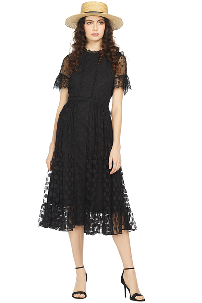 Saloni Andie Dress (Black)