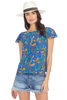 Saloni Daphne Top (Azure Berry Leaf)
