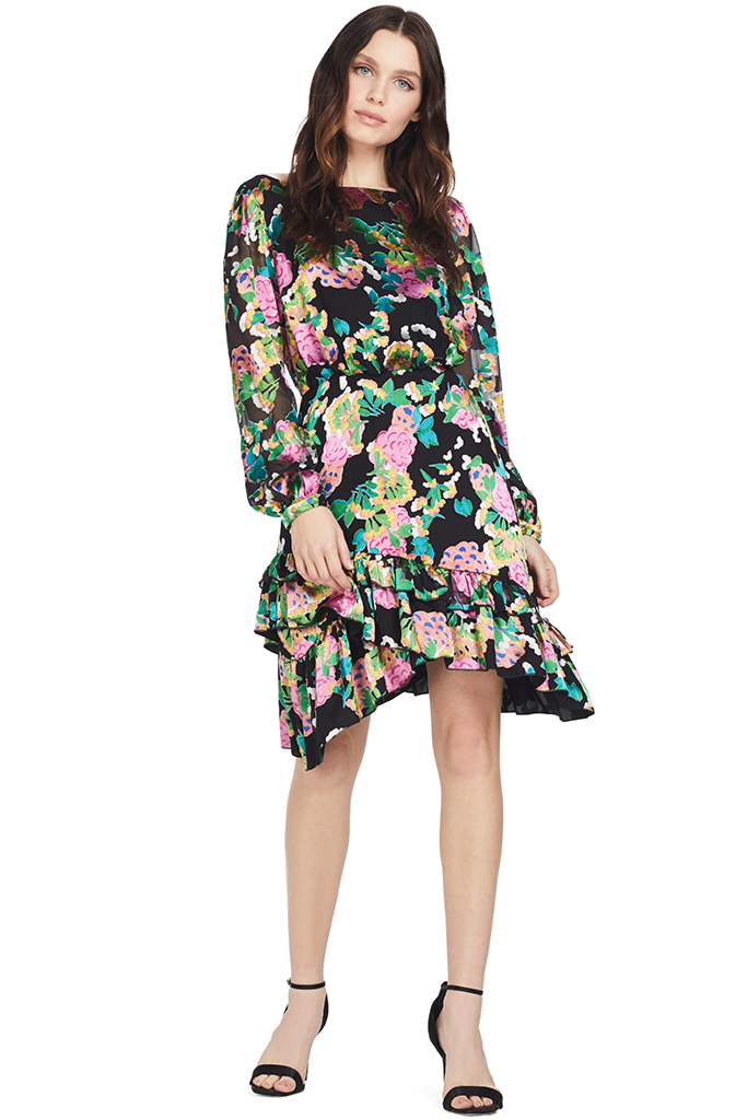 Saloni Felicia Dress (Hydrangea) Floral Multi