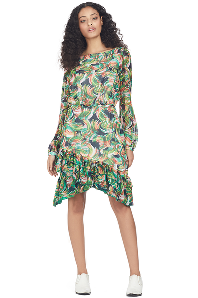Saloni Felicia Dress (Jade Palmier)