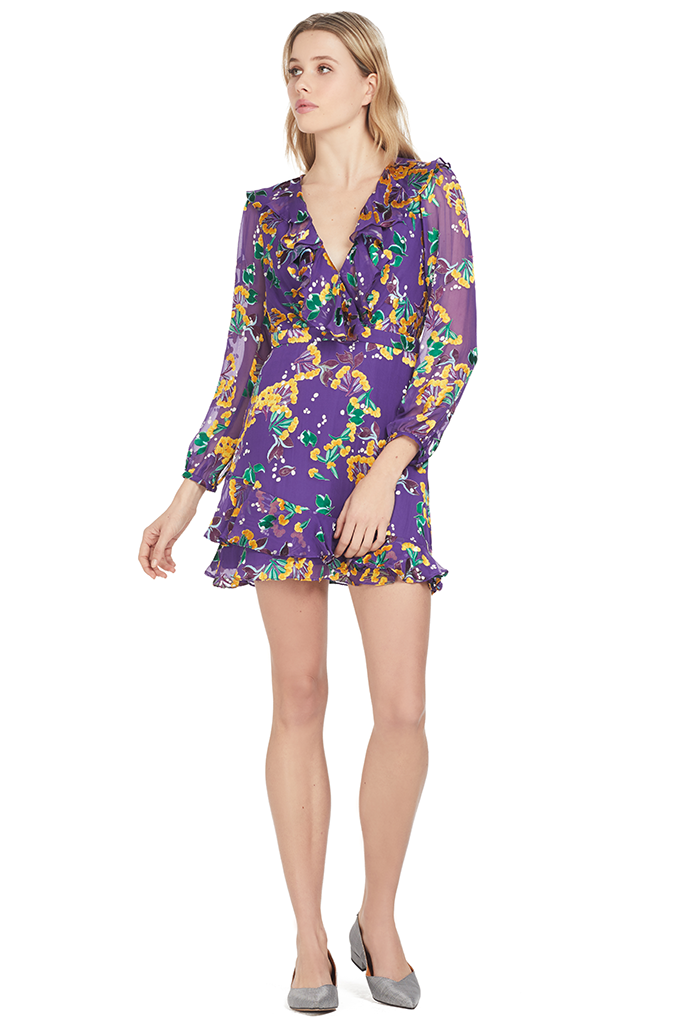 Jodie Dress (Violet Sweetpeas)