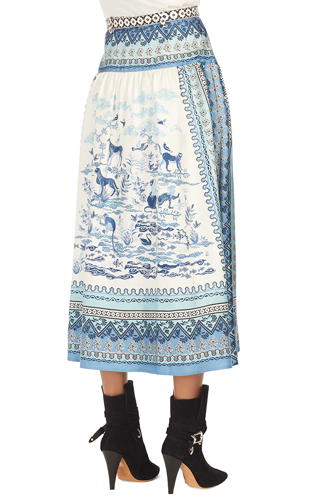 Zawe Skirt - Porcelain Safari