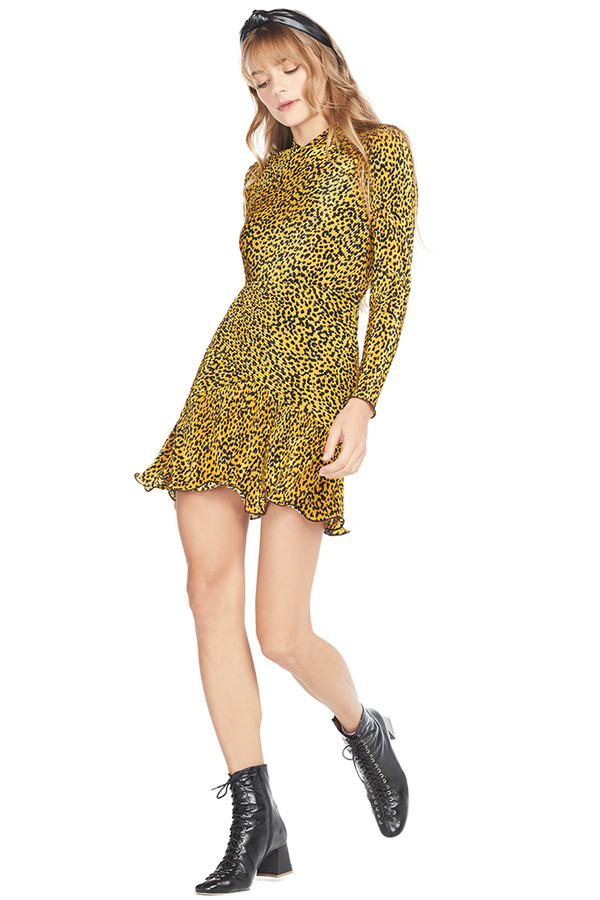 Saylor Tovah Dress Multi Cheetah
