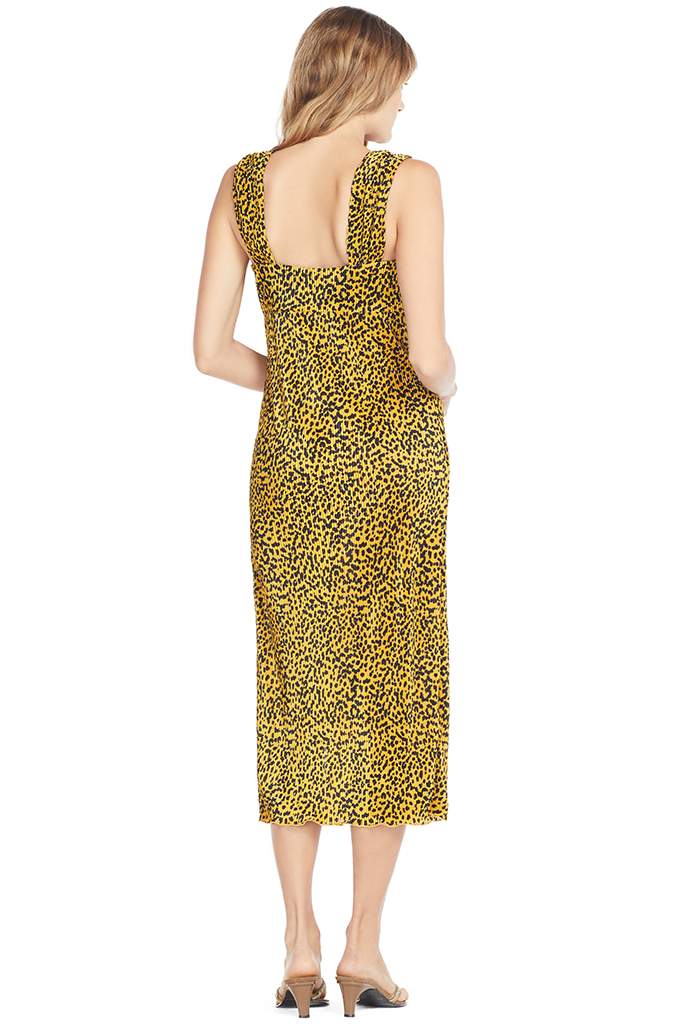 Saylor Zaha Dress Leopard Print