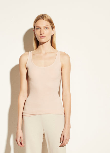 Scoop Neck Tank - Rosewater