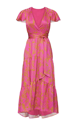 Liza Dress - Ikat Flower Pink