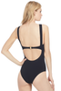 Suboo Bonded Panelled One Piece (Black)
