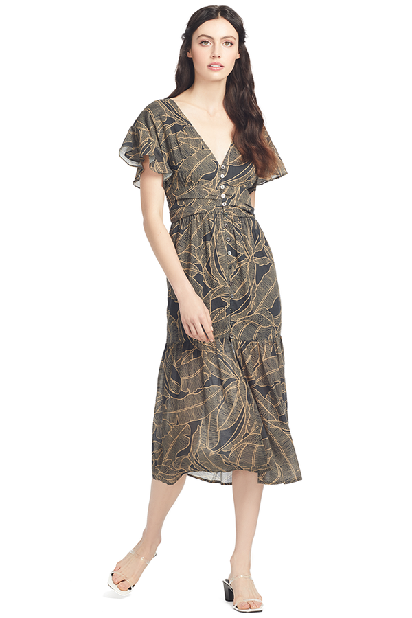 Suboo Zephora Button Front Midi Dress