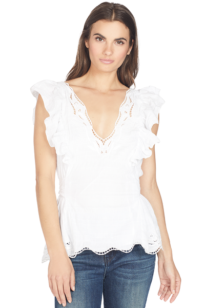 Tanya Taylor Connie Blouse (White)