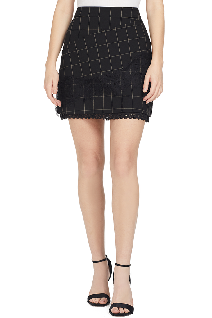Windowpane Tasia Skirt