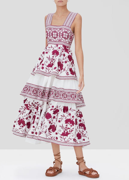 Verity Dress - Berry Embroidery