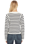Vince Mixed Stripe Pullover (White/Coastal)
