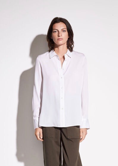 Slim Fitted Blouse - White