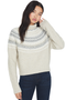 Cropped Fairisle Turtleneck (Oatmeal)