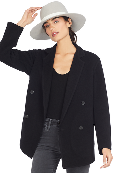 Vince Women's Double Breasted Cardigan Coat (Black)