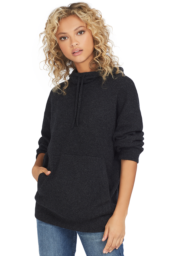 Vince Women's Double Layer Hoodie (Carbon) - Hoodies
