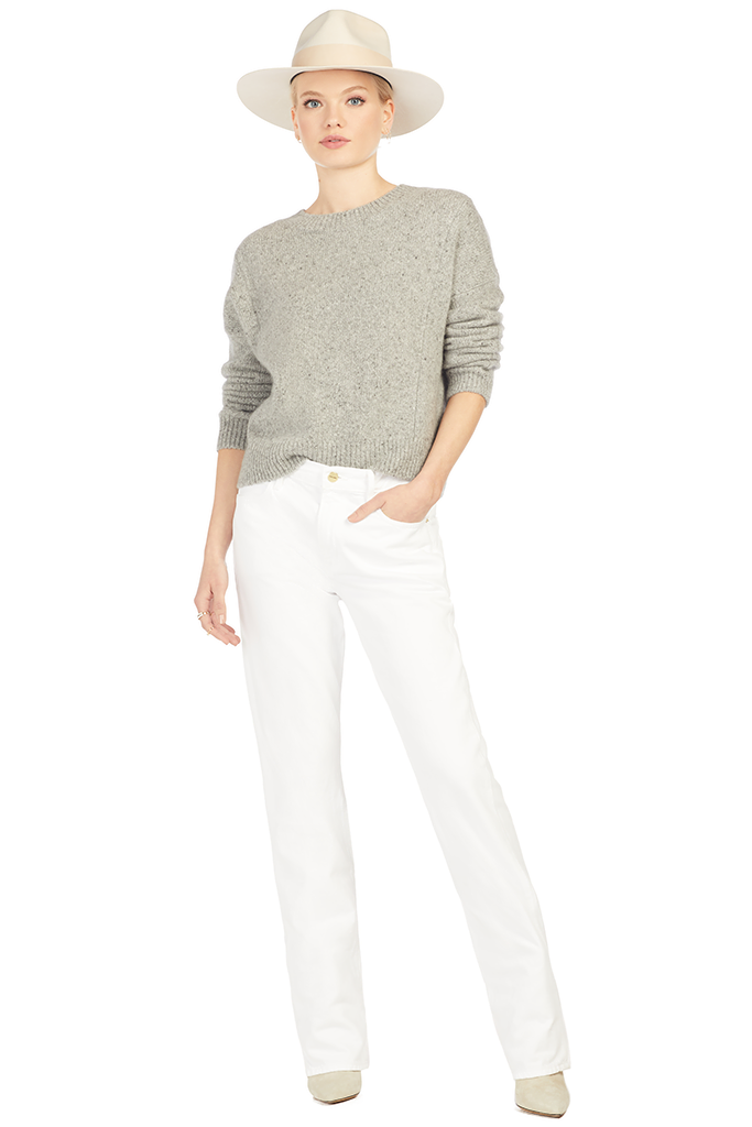 Double Seam Cashmere Pullover - Grey