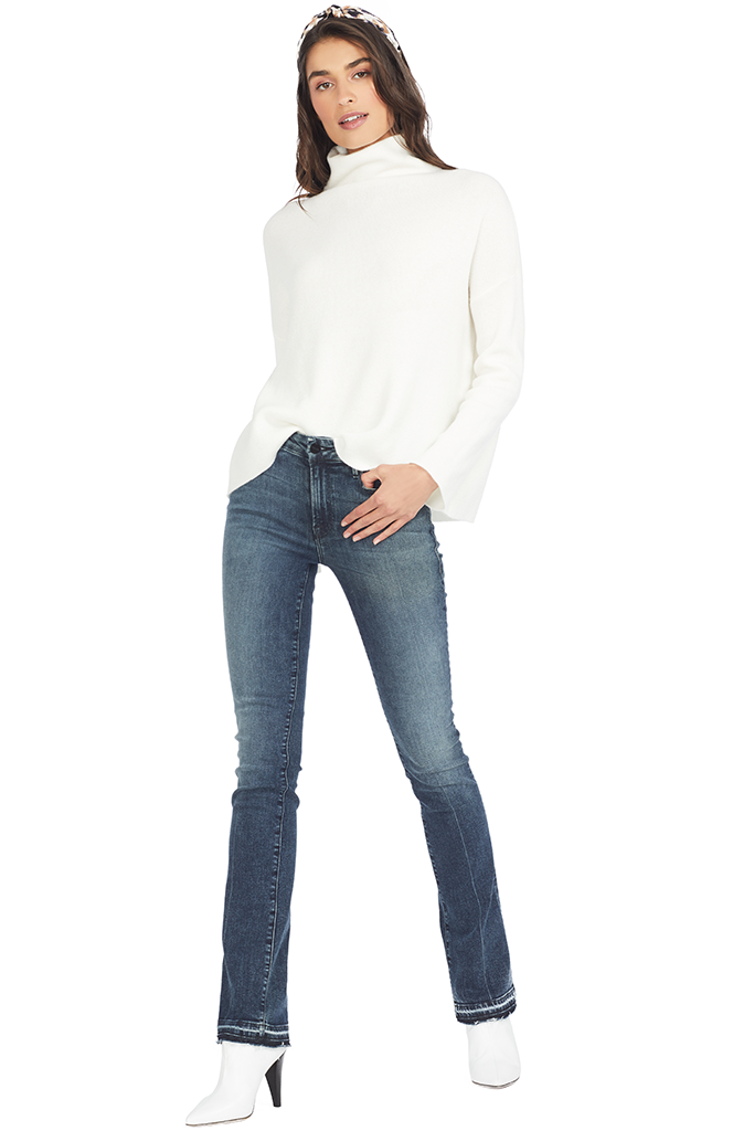 Vince Funnel Neck Pullover (Off White) - Womens Sweaters