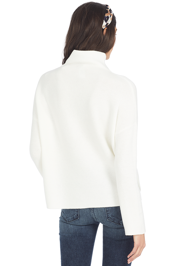 Vince Women's Funnel Neck Pullover (Off White) - Woman's Sweater