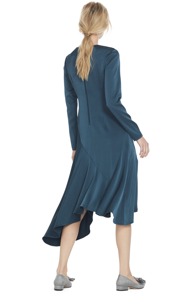 GREY Jason Wu Satin Back Handkerchief Dress (Petrol)
