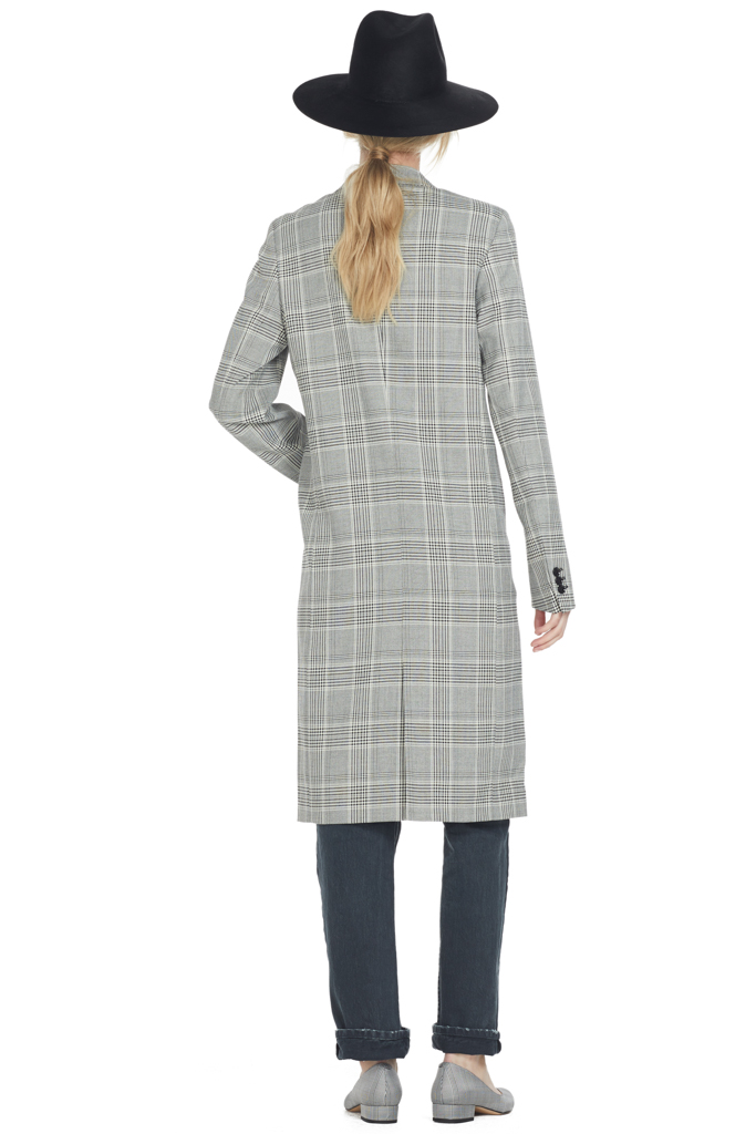 Ganni Jamson Coat Light Plaid