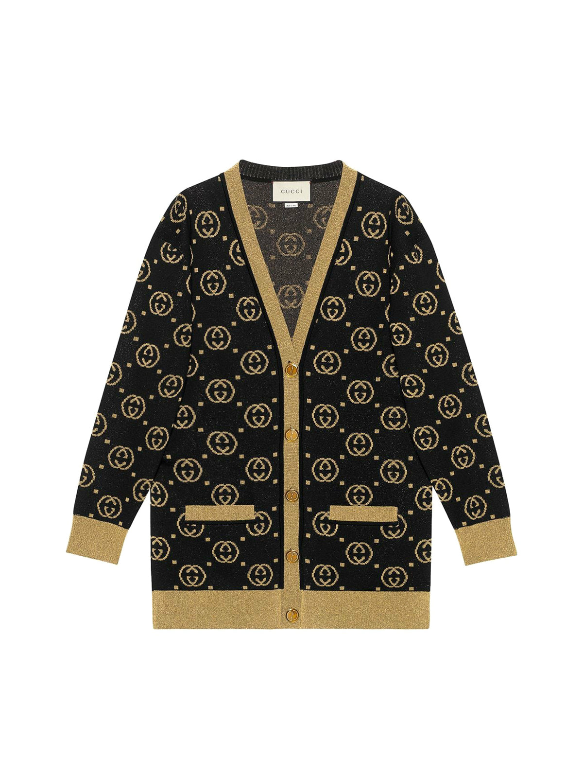 Wool cardigan with GG motif