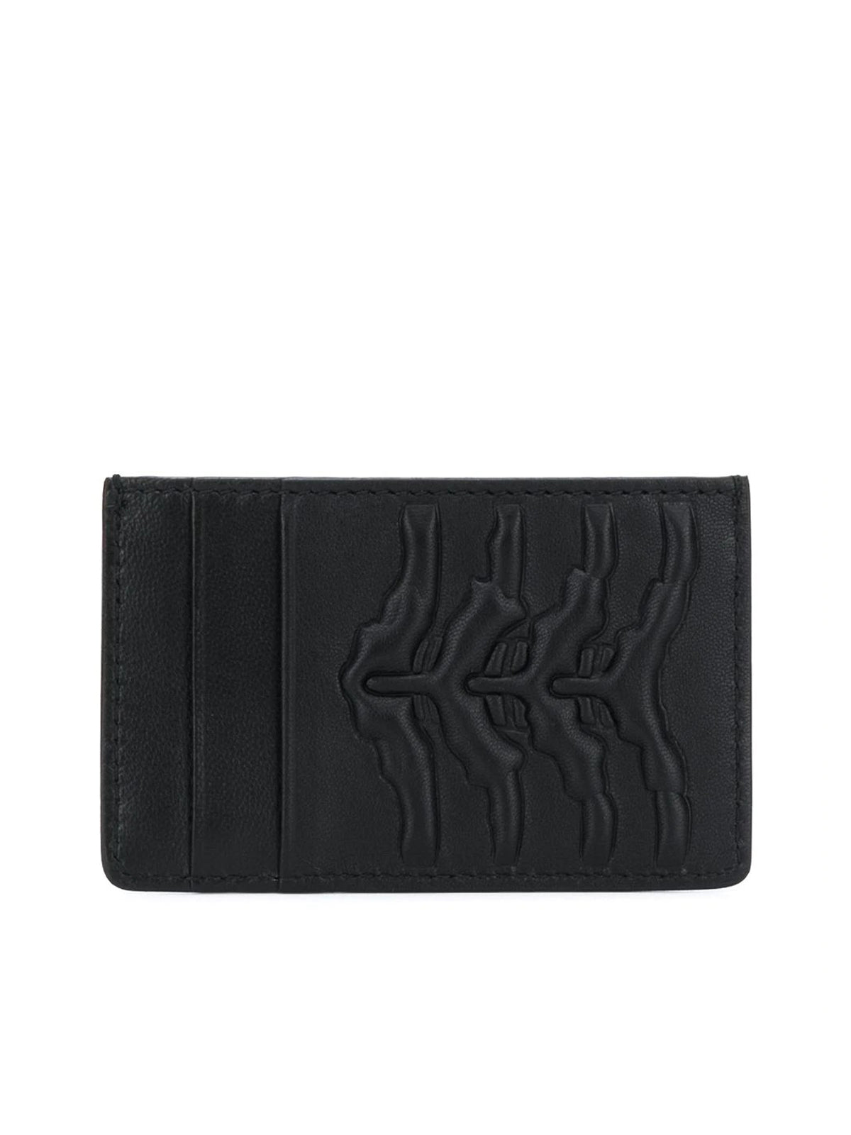 RIB CAGE EMBOSSED CARD HOLDER