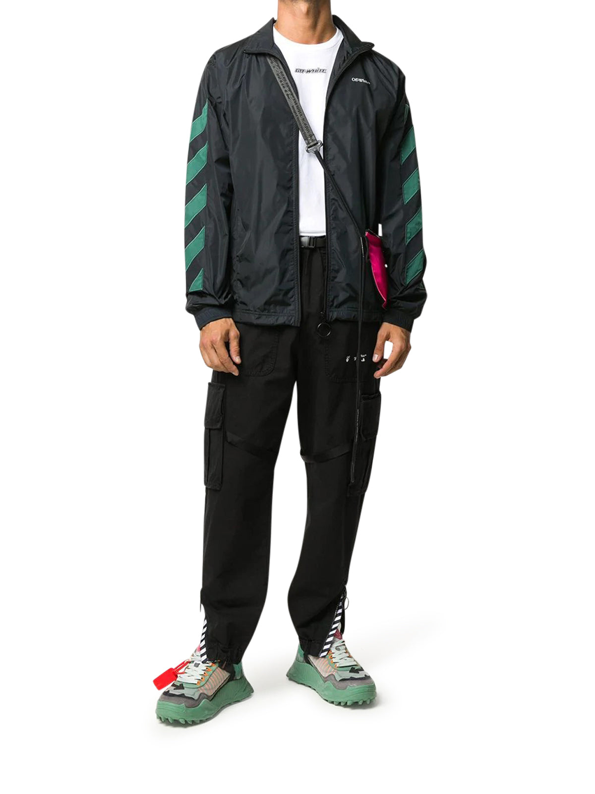 DIAGONALS NYLON JACKET